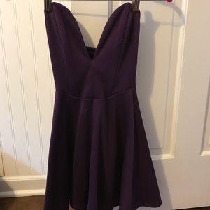 Tobi dark purple strapless dress